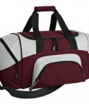 Port & Company BG990 S Improved Colorblock Small Sport Duffel Maroon