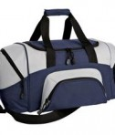 Port & Company BG990 S Improved Colorblock Small Sport Duffel Navy
