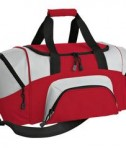 Port & Company BG990 S Improved Colorblock Small Sport Duffel Red
