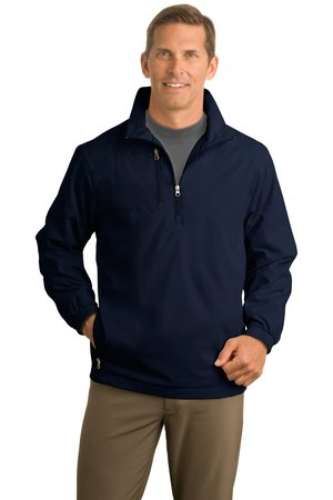 Port & Company J703 Half Zip Jacket Navy