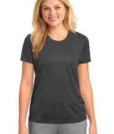 Port & Company LPC380 Ladies Essential Performance Tee Charcoal