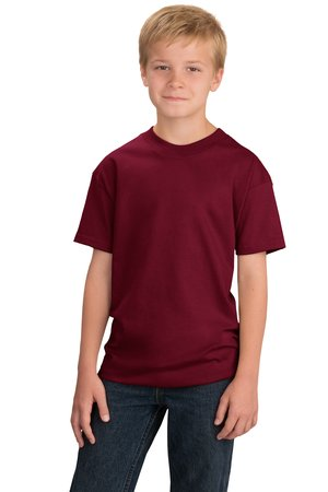 port-and-company-pc61y-youth-essential-t-shirt-cardinal