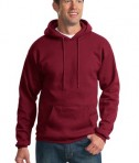 Port & Company PC90H Ultimate Pullover Hooded Sweatshirt Cardinal