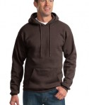 Port & Company PC90H Ultimate Pullover Hooded Sweatshirt Dark Chocolate Brown