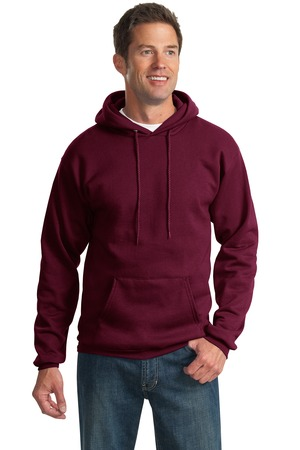 Port & Company PC90H Ultimate Pullover Hooded Sweatshirt Maroon