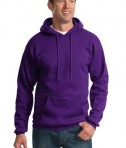 Port & Company PC90H Ultimate Pullover Hooded Sweatshirt Purple