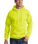Port & Company PC90H Ultimate Pullover Hooded Sweatshirt Safety Green