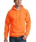 Port & Company PC90H Ultimate Pullover Hooded Sweatshirt Safety Orange