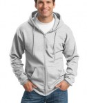 Port and Company PC90ZH Ultimate Full Zip Hooded Sweatshirt Ash