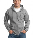 Port and Company PC90ZH Ultimate Full Zip Hooded Sweatshirt Athletic Heather