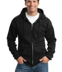 Port and Company PC90ZH Ultimate Full Zip Hooded Sweatshirt Jet Black