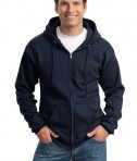 Port and Company PC90ZH Ultimate Full Zip Hooded Sweatshirt Navy