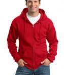 Port and Company PC90ZH Ultimate Full Zip Hooded Sweatshirt Red