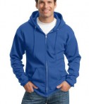 Port and Company PC90ZH Ultimate Full Zip Hooded Sweatshirt Royal