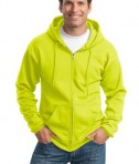 Port and Company PC90ZH Ultimate Full Zip Hooded Sweatshirt Safety Green