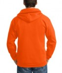 Port and Company PC90ZH Ultimate Full Zip Hooded Sweatshirt Safety Orange Back