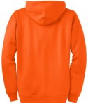 Port and Company PC90ZH Ultimate Full Zip Hooded Sweatshirt Safety Orange Flat Back