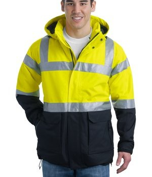 Port Authority ANSI 107 Class 3 Safety Heavyweight Parka Style J799S 1
