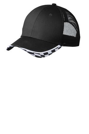 Port Authority Checkered Racing Mesh Back Cap Style C903 1