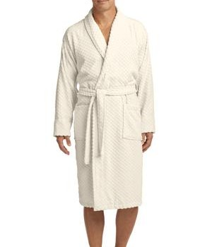 Port Authority Checkered Terry Shawl Collar Robe Style R103 1