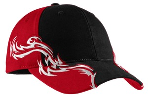 Port Authority Colorblock Racing Cap with Flames Style C859 1