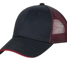 Port Authority Double Mesh Snapback Sandwich Bill Cap Style C818