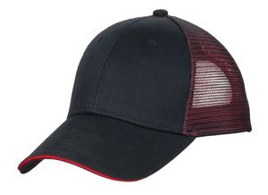 Port Authority Double Mesh Snapback Sandwich Bill Cap Style C818 1