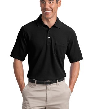 Port Authority EZCotton Pique Pocket Polo Style K800P 1