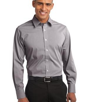 Port Authority Fine Stripe Stretch Poplin Shirt Style S647 1