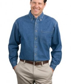 Port Authority Heavyweight Denim Shirt Style S100