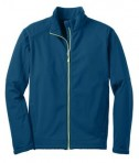Port Authority J316 Traverse Soft Shell Jacket Poseidon Blue/Lime Green Flat Front