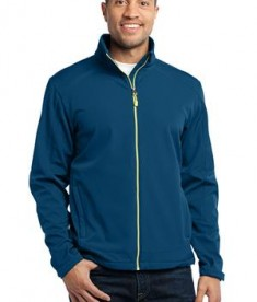 Port Authority J316 Traverse Soft Shell Jacket Poseidon Blue/Lime Green