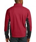 Port Authority J319 Vertical Soft Shell Jacket Rich Red/Black Back