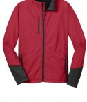 Port Authority J319 Vertical Soft Shell Jacket Rich Red/Black Flat