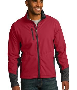 Port Authority J319 Vertical Soft Shell Jacket Rich Red/Black