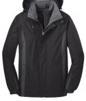 Port Authority J321 3-in-1 Jacket Black/Black/Magnet Grey Flat