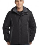 Port Authority J321 3-in-1 Jacket Black/Black/Magnet Grey