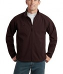 Port Authority J705 Textured Soft Shell Jacket Stone Cafe Brown