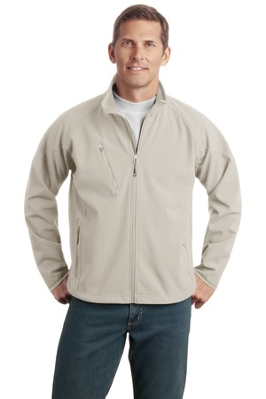 Port Authority J705 Textured Soft Shell Jacket Stone