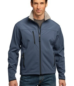 Port Authority J790 Glacier Soft Shell Jacket Atlantic Blue /Chrome