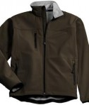 Port Authority J790 Glacier Soft Shell Jacket Brown / Chrome Flat