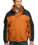 Port Authority J792 Nootka Jacket Orange Graphite