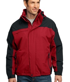 Port Authority J792 Nootka Jacket Engine Red Black