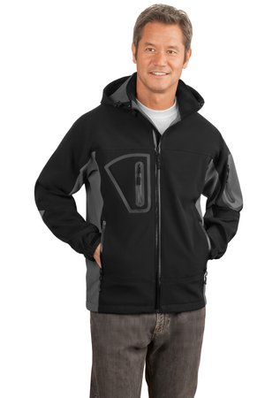 Port Authority J798 Waterproof Soft Shell Jacket Black/Graphite
