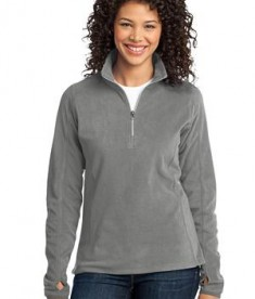 Port Authority L223 Ladies Microfleece Jacket Pearl Grey