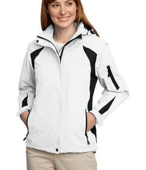 Port Authority L304 Ladies All-Season II Jacket White Black