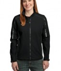 Port Authority L307 Ladies Embark Soft Shell Jacket Black/Deep Grey