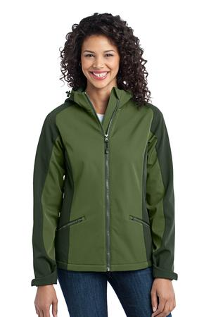 Port Authority Ladies Gradient Hooded Soft Shell Jacket Style L312* 1