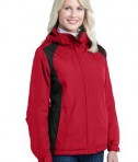 Port Authority L315 Ladies Barrier Jacket Rich Red/Black Angle