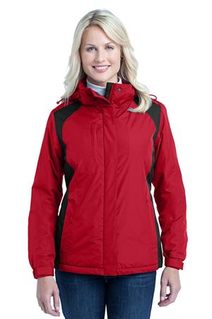 Port Authority L315 Ladies Barrier Jacket Rich Red/Black